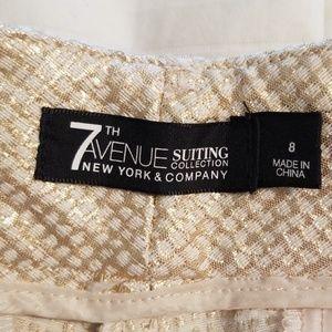 New York & Company Shorts - Tailored metallic gold shorts